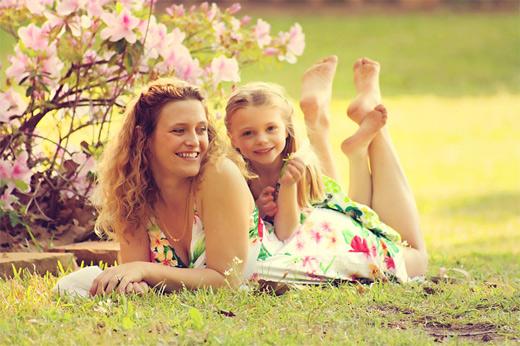 40 garden mother child pohotogprahy