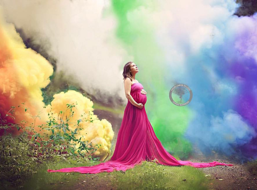 After 6 Miscarriages This Mom Finally Celebrated Her Rainbow Baby With A Colorful Photoshoot 57f2a8f2d7da5 880