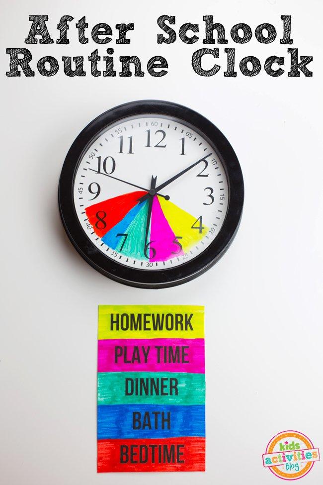 After School Routine Clock
