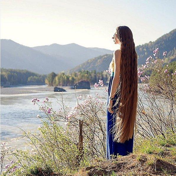 Dashik Gubanova Freckle Long Hair