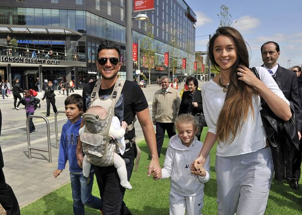 Peter Andre with girlfriend Emily MacDonagh daughters Amelia and Princess Tiaamii and son Junior