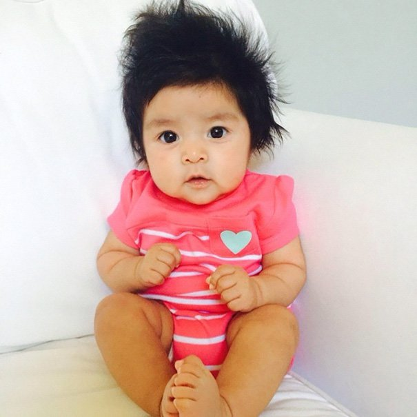 funny hair baby 13