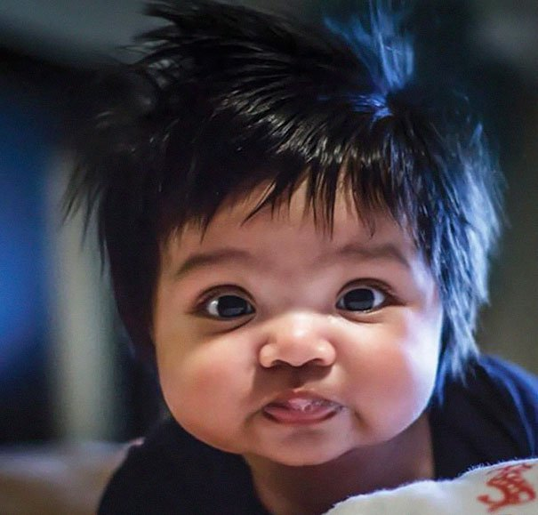funny hair baby 4