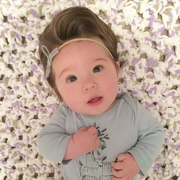 funny hair baby 7