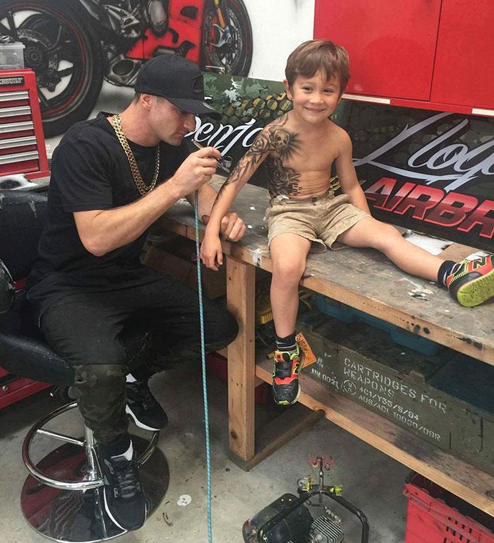 kid tattoos airbrush bejamin lloyd new zealand 1