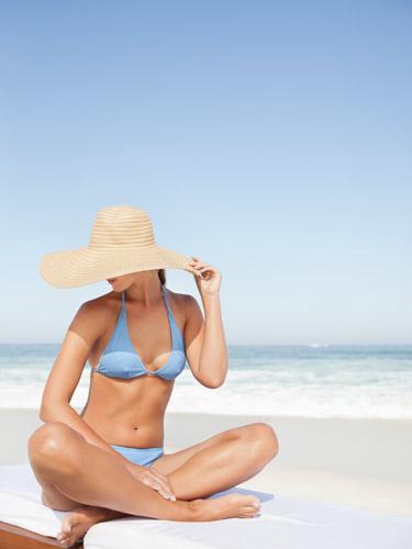 54825fdeec5be rby woman on beauch blue bikini hat lgn
