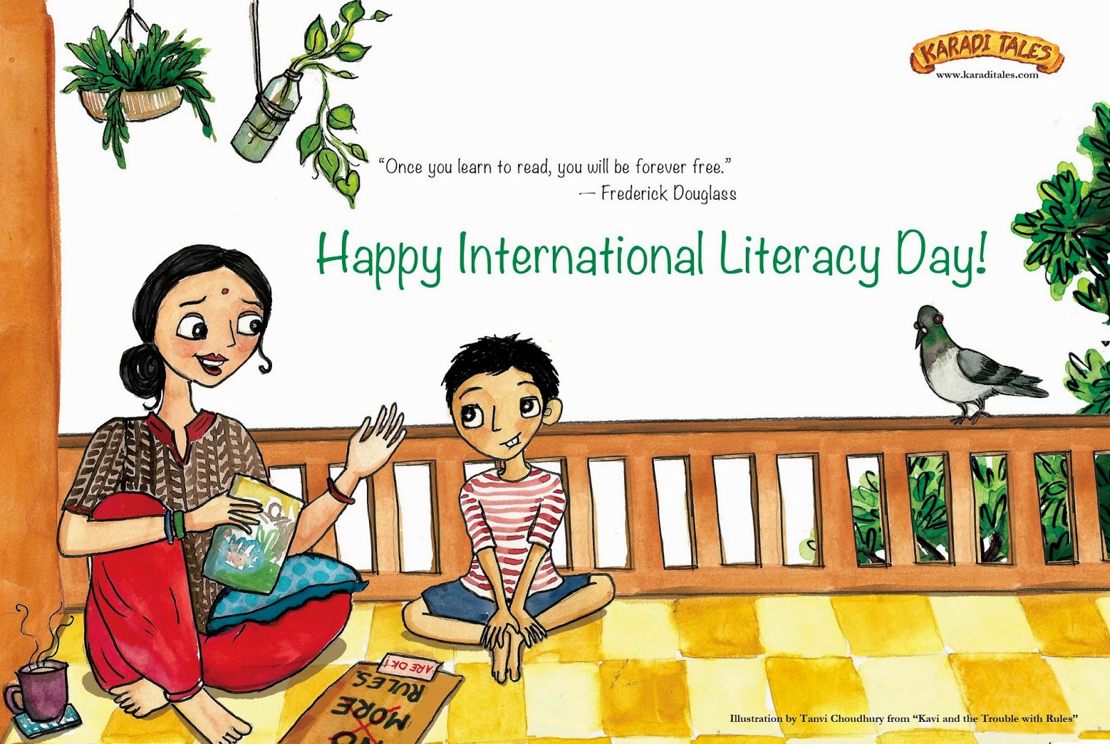 Once You Learn To Read You Will Be Forever Free. Happy International Literacy Day