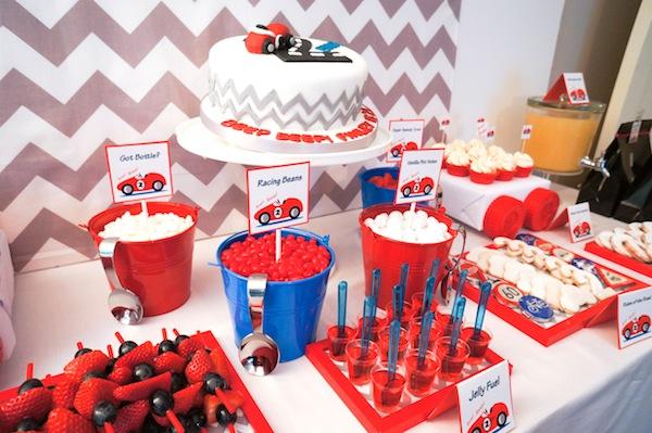 Race Car themed birthday party via Karas Party Ideas KarasPartyIdeas.com supplies beepbeep car birthday cake cupcakes 61