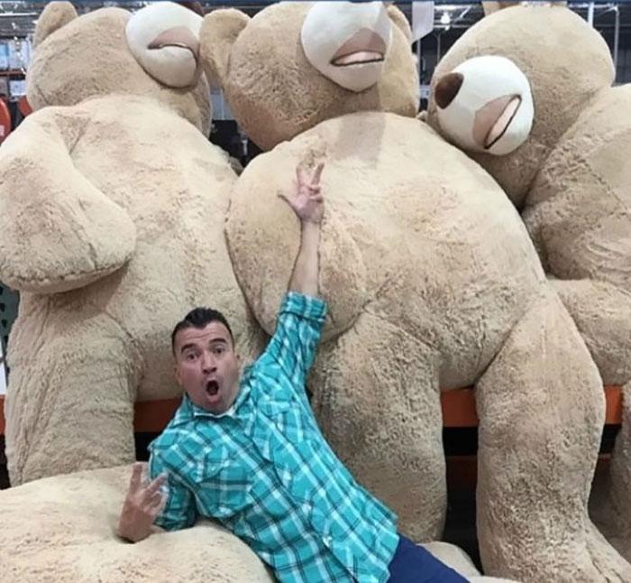 grandfather baby gift giant teddy bear madeline jane sabrina gonzalez 15