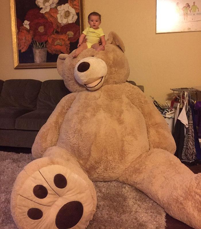 grandfather baby gift giant teddy bear madeline jane sabrina gonzalez 6