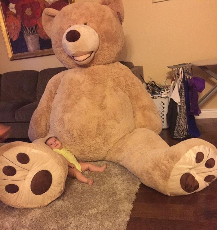 grandfather baby gift giant teddy bear madeline jane sabrina gonzalez 7