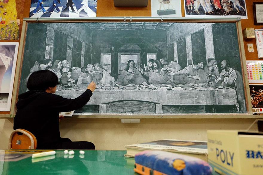 teacher chalkboard art hirotaka hamasaki13