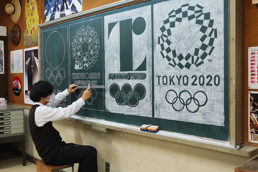 teacher chalkboard art hirotaka hamasaki20