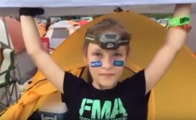 9 year old bullfrog challenge race