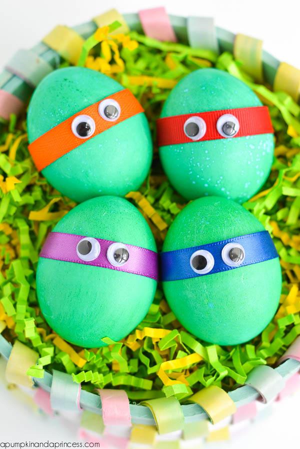 Dyed Ninja Turtles Easter Eggs