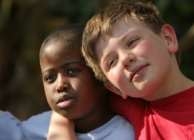 black and white boys