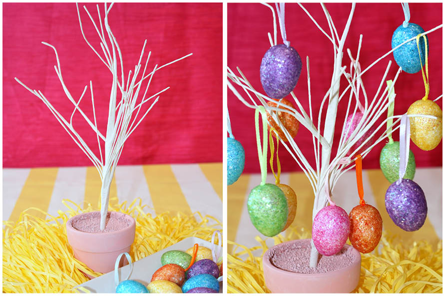 dollar tree easter egg trees