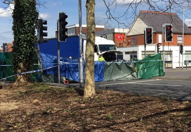 the scene on Basingstoke road