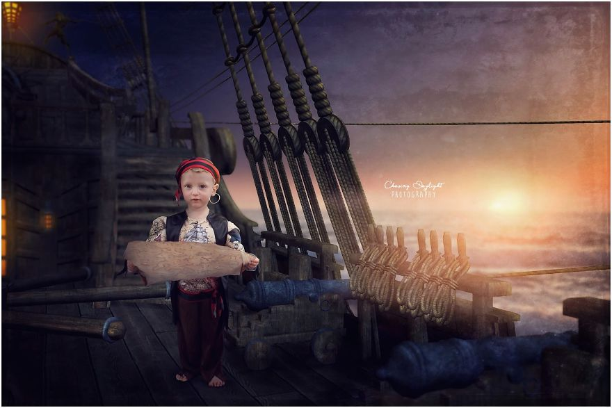 I create whimsical portraits of children1 880