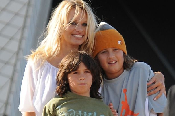 Pamela Anderson and sons Brandon and Dylan