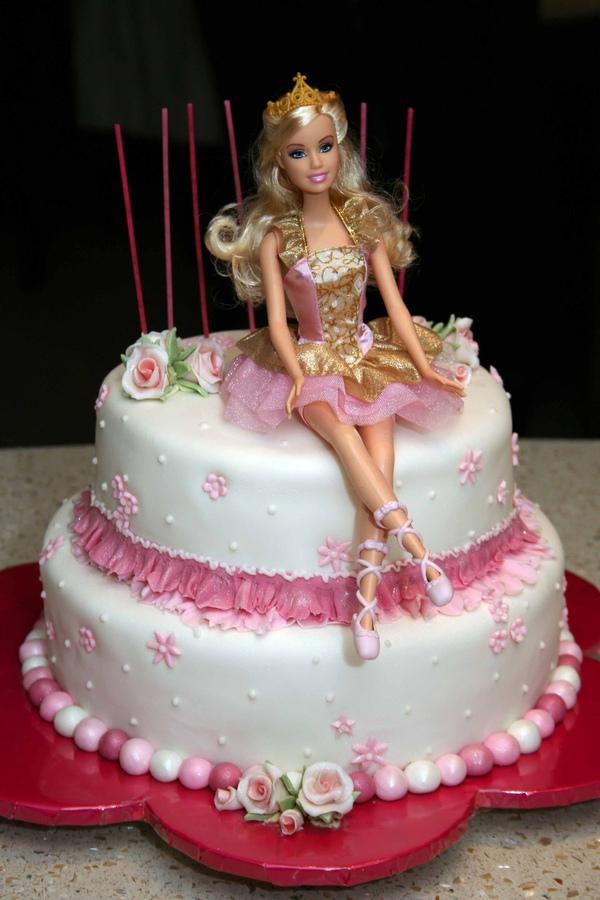 barbie buttercream birthday cake