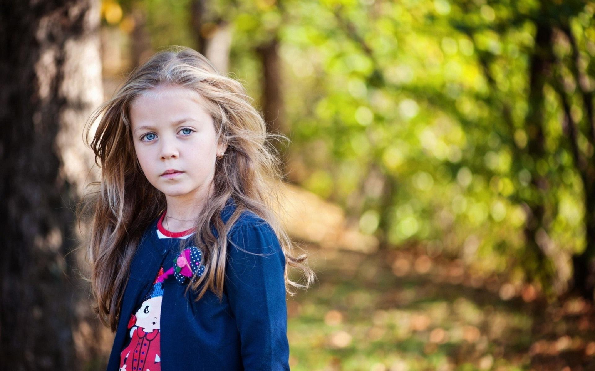 Innocent baby in tree field 1