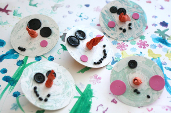 CD Christmas ornaments