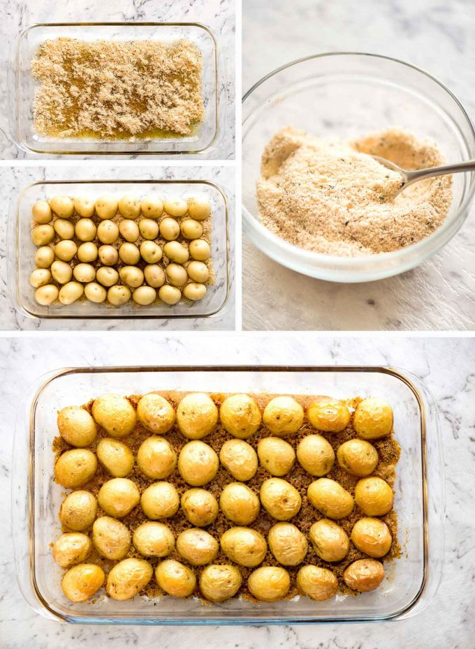 Parmesan Crusted Potatoes steps 680x930