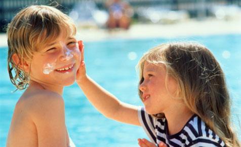 sunscreen and kids
