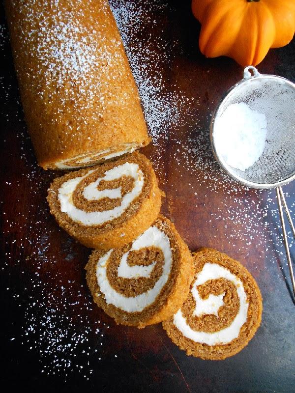pumpkin roll with maple cream cheese 2
