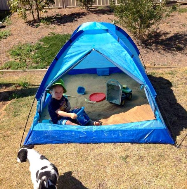 3 Shaded Tent Sand Pit 1 640x646