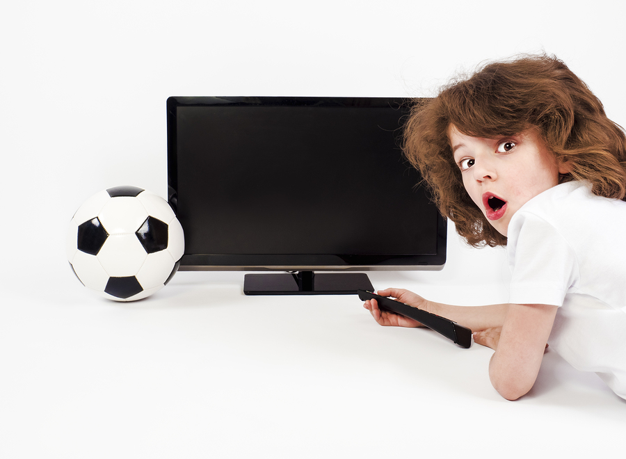 bigstock Funny Little Boy With Football 243359371