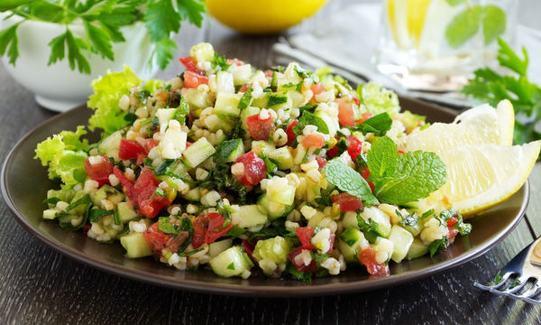 lemon mint and tabbouleh salad
