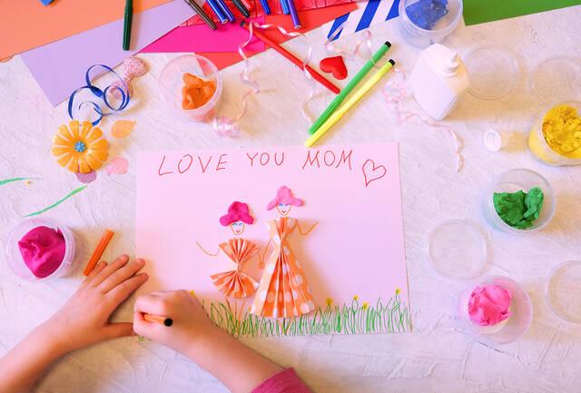 bigstock Child Making Homemade Greeting 417930610