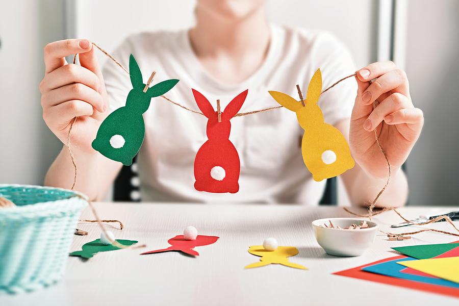 bigstock Diy Easter Home Decor Happy B 410218267