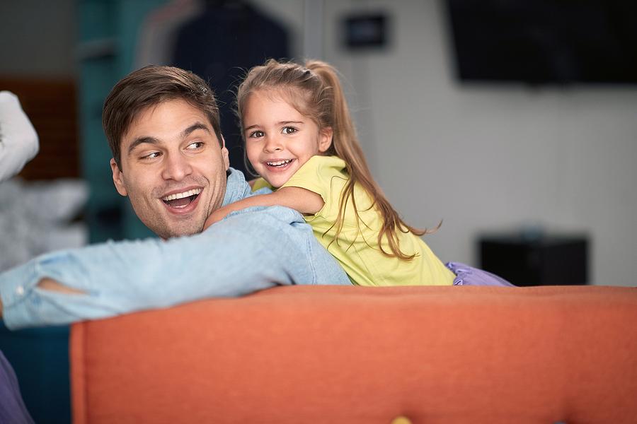 bigstock Joyful father and daughter pla 408017621