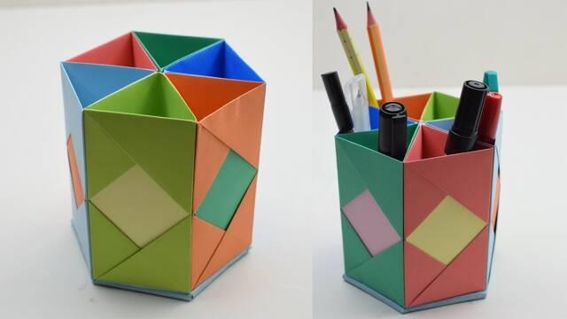 pencil case origami method