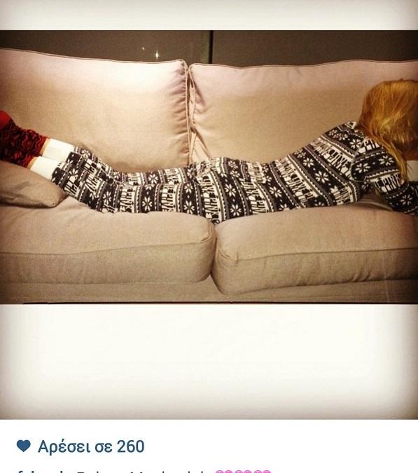 Φαίη Σκορδά: Δείτε τι κάνει Παρασκευή βράδυ στον καναπέ της! (εικόνα)