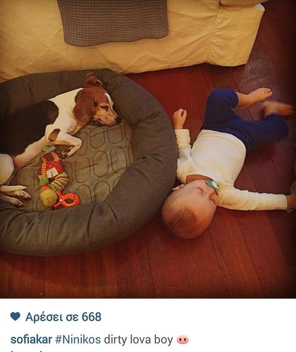 Σοφία Καρβέλα: Ο γιος της κοιμάται με τον…(εικόνα)