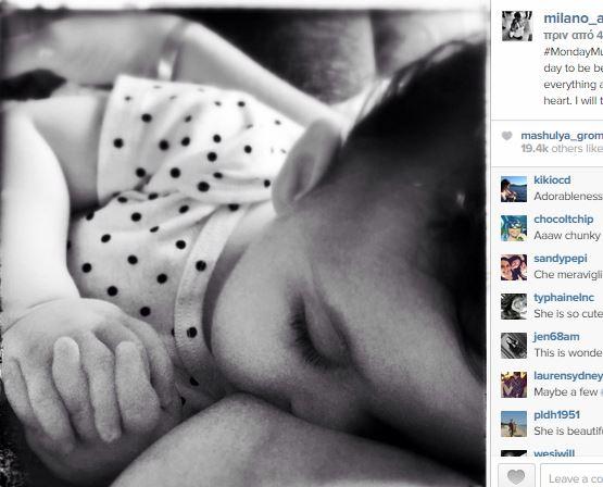 Ποια πασίγνωστη ηθοποιός θηλάζει το μωρό της και ανέβασε αυτήν την τρυφερή φωτογραφία στο Ινσταγκραμ; (εικόνες)