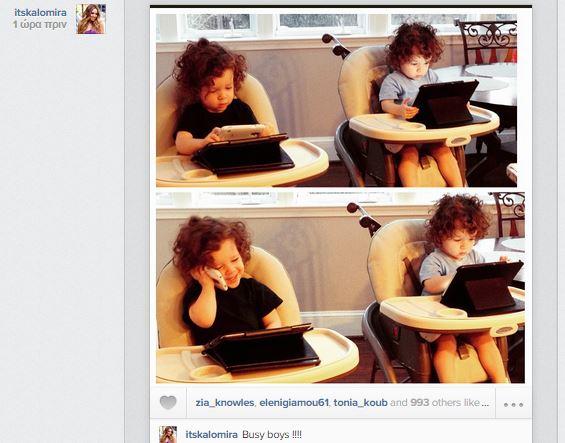 Καλομοίρα: Δε φαντάζεστε τι κάνουν τα δίδυμα αγόρια της στα καθισματάκια τους! (εικόνα)