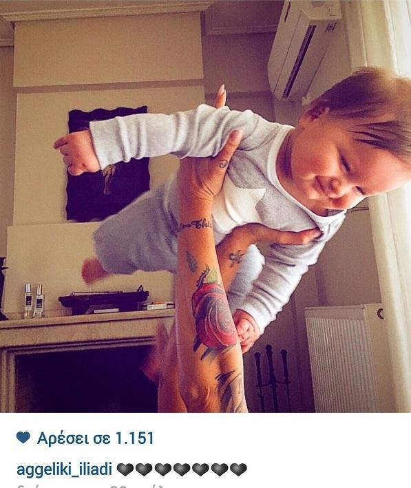 Αγγελική Ηλιάδη: Δείτε τι κάνει με το μικρό της γιο! (εικόνα)