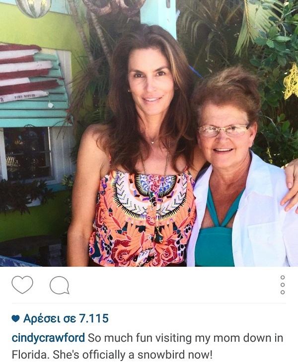 Σίντι Κρόφροντ: Μας δείχνει για πρώτη φορά τη μαμά της! Της μοιάζει; (εικόνα)