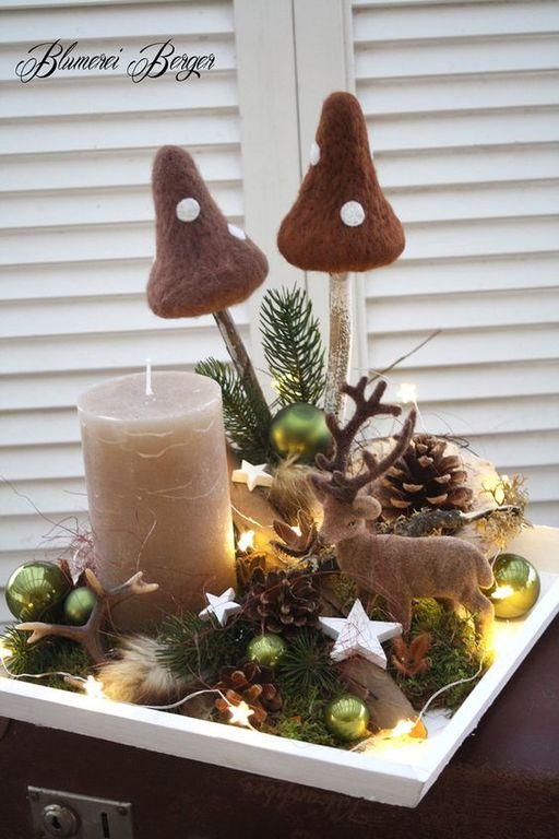 Σαράντα ιδέες για να διακοσμήσετε το τραπεζάκι του σαλονιού σας τα Χριστούγεννα