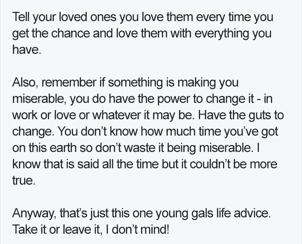 Το γράμμα μίας 27χρονης που θα σας αλλάξει τη ζωή για πάντα