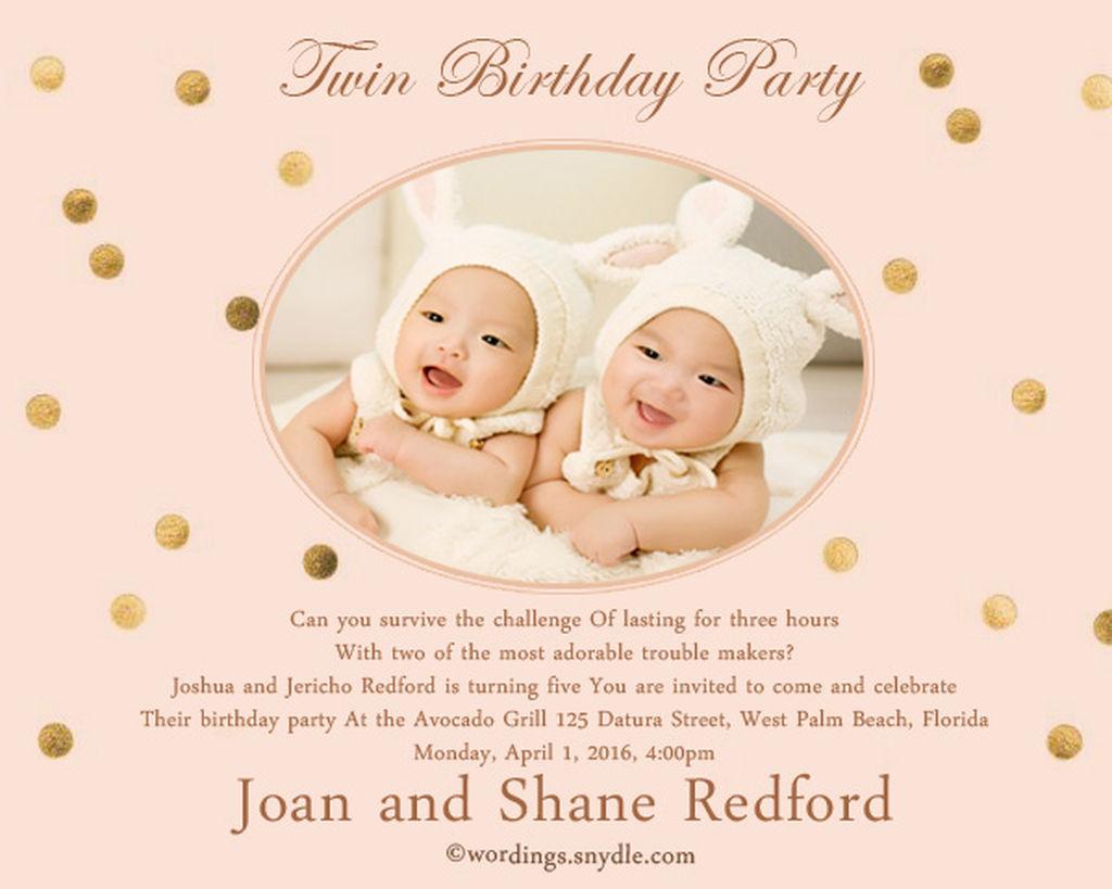 Προσκλήσεις γενεθλίων: 45 ιδέες για παιδικό πάρτυ διδύμων