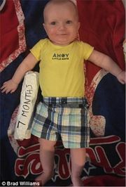 Ο ευρηματικός τρόπος που ανακάλυψε ένας μπαμπάς για να μετράει το ύψος του μωρού του (pics)