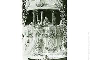 Η γαμήλια τούρτα του πρίγκιπα Αλβέρτου και της πριγκίπισσας Ελισάβετ το 1923