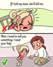 Οι γονείς δεν είναι εχθροί για το παιδί. Θα πρέπει να τους ρωτά και να τους συμβουλεύεται για οτιδήποτε χρειάζεται