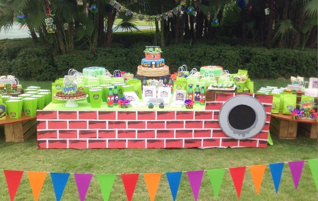 Παιδικό πάρτι με θέμα τα χελονονιντζάκια - Ιδέες διακόσμησης και τούρτας